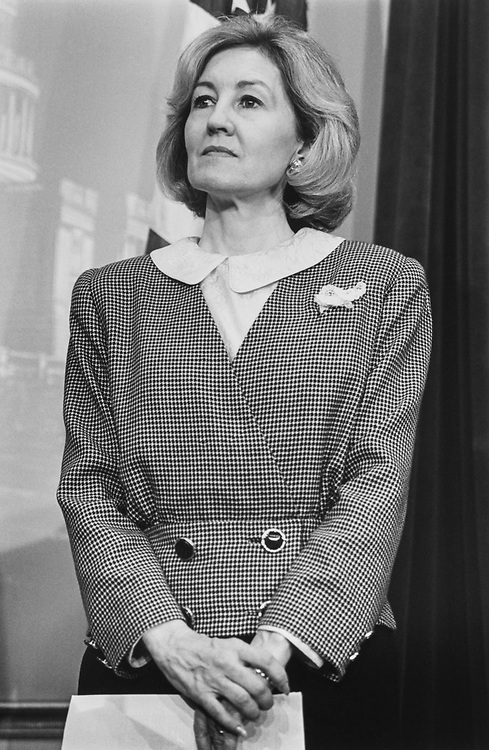 Sen. Kay Bailey Hutchison, R-Tex., in October 1993. (Photo by Laura Patterson/CQ Roll Call via Getty Images)