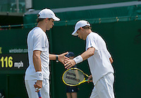 England, London, 28.06.2014. Tennis, Wimbledon, AELTC, Bryan brothers (USA)<br /> Photo: Tennisimages/Henk Koster
