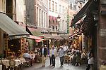 Rue des Bouchers Street, Brussels, Belgium