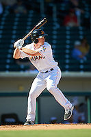 Mesa Solar Sox Dexter Kjerstad (19), of the Miami Marlins organization, during a game against the Scottsdale Scorpions on October 21, 2016 at Sloan Park in Mesa, Arizona.  Mesa defeated Scottsdale 4-3.  (Mike Janes/Four Seam Images)