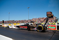 Jul 27, 2019; Sonoma, CA, USA; NHRA top fuel driver Billy Torrence during qualifying for the Sonoma Nationals at Sonoma Raceway. Mandatory Credit: Mark J. Rebilas-USA TODAY Sports
