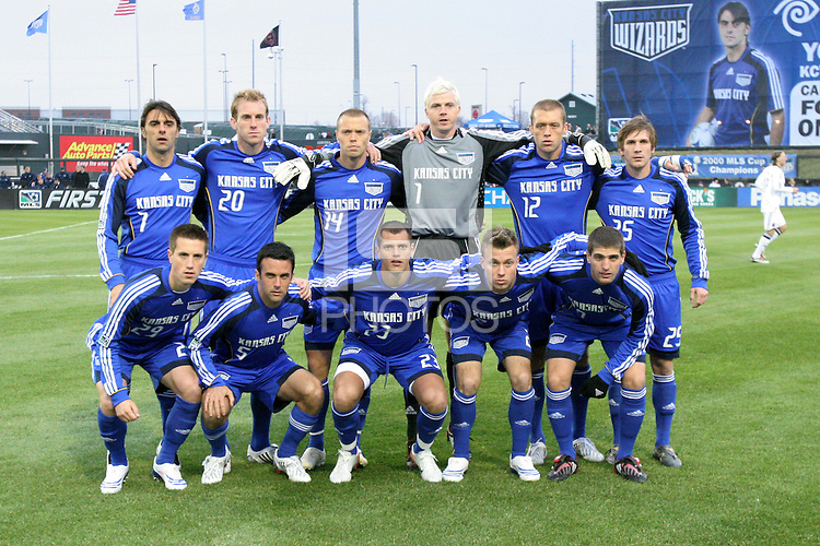 Kansas City Wizards starting XI. The Kansas City Wizards defeated D. C. United 2 - 0 during a Major League Soccer match at CommunityAmerica Ballpark in Kansas City, Kansas on March 29, 2008.