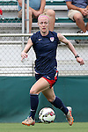 19 August 2014: Becky Sauerbrunn. The United States Women's National Team held a public training session at WakeMed Stadium in Cary, North Carolina.