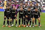 Malaga CF´s goalkeeper Idriss Carlos Kameni, Weligton Robson, Samuel Garcia Sanchez, Ricardo Horta, Juan Miguel Jimenez, Jose Luis Garcia del Pozo, Marcos Alberto Angeleri, Roberto Jose Rosales, Miguel Torres Gomez, Samuel Castillejo and Sergi Darder during 2014-15 La Liga match between Rayo Vallecano and Malaga CF at Rayo Vallecano stadium in Madrid, Spain. March 21, 2015. (ALTERPHOTOS/Luis Fernandez)