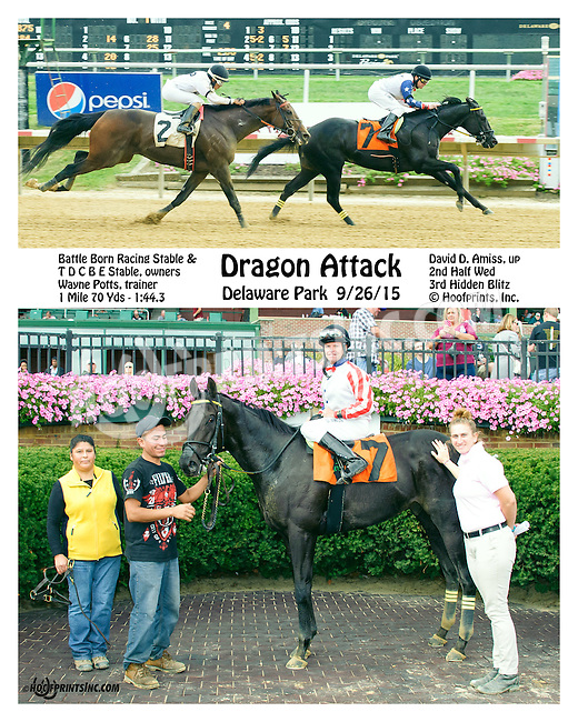 Dragon Attack winning at Delaware Park on 9/26/15
