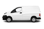 Car driver side profile view of a 2015 Nissan NV200 Visia 5 Door Cargo Van