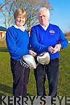 CAPTAINS: Lady captain of Ardfert Golf Club Kathleen Houlihan and Brendan Sinott (capt of Ardfert Golf Club) on Sunday..................... .. .............................................................. ....................