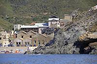 - Sardegna, Alghero, baia dell' Argentiera con le antiche strutture minerarie<br /> <br /> - Sardinia, Alghero, the Argentiera bay with the old mining facilities