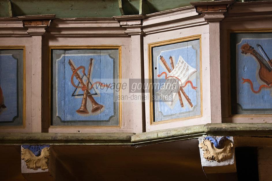 Europe/France/Provence-Alpes-Côtes d'Azur/06/Alpes-Maritimes/Alpes-Maritimes/Arrière Pays Niçois/Sospel: Chapelle des Pénitents Blancs- détail décoration baroque