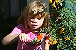 girl and Julia Heliconia butterfly at The Living Desert Butterflies Alive