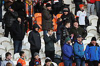 Blackpool fans watch their team in action <br /> <br /> Photographer Kevin Barnes/CameraSport<br /> <br /> Emirates FA Cup Second Round - Blackpool v Maidstone United - Sunday 1st December 2019 - Bloomfield Road - Blackpool<br />  <br /> World Copyright © 2019 CameraSport. All rights reserved. 43 Linden Ave. Countesthorpe. Leicester. England. LE8 5PG - Tel: +44 (0) 116 277 4147 - admin@camerasport.com - www.camerasport.com