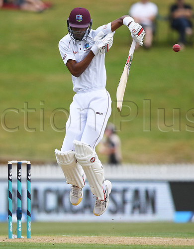10th December 2017, Seddon Park, Hamilton, New Zealand; International Test Cricket, 2nd Test, Day 2, New Zealand versus West Indies;  Roston Chase
