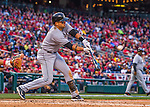 7 April 2016: Miami Marlins third baseman Martin Prado at bat during the Washington Nationals Home Opening Game at Nationals Park in Washington, DC. The Marlins defeated the Nationals 6-4 in their first meeting of the 2016 MLB season. Mandatory Credit: Ed Wolfstein Photo *** RAW (NEF) Image File Available ***