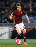Calcio, Serie A: Roma vs Fiorentina. Roma, stadio Olimpico, 4 marzo 2016.<br /> Roma&rsquo;s Stephan El Shaarawy in action during the Italian Serie A football match between Roma and Fiorentina at Rome's Olympic stadium, 4 March 2016.<br /> UPDATE IMAGES PRESS/Riccardo De Luca