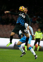 Andrea Petagna  during the SSC Napoli vs Atalanta, serie A  soccer match at  San Paolo Stadium in Naples , Italy 25 February 2017 Photo: Ciro De Luca ciro de luca<br />   +39 02 43998577 sales@silverhubmedia.it