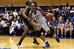 07 January 2016: Duke's Azura Stevens (11) and Wake Forest's Keyonna Allen (left). The Duke University Blue Devils hosted the Wake Forest University Demon Deacons at Cameron Indoor Stadium in Durham, North Carolina in a 2015-16 NCAA Division I Women's Basketball game. Duke won the game 95-68.