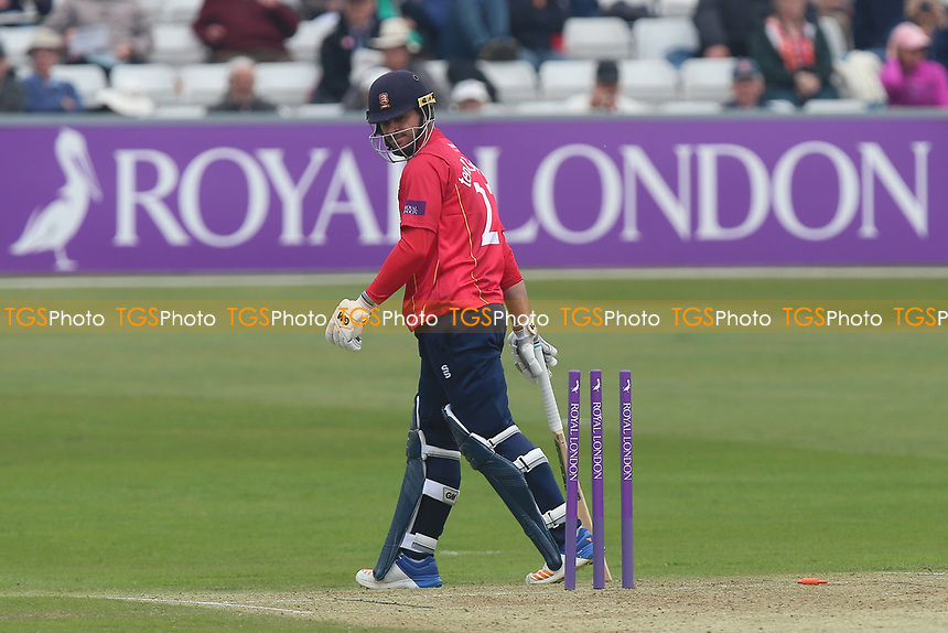 Ryan ten Doeschate of Essex looks back at his stumps after being run out during Essex Eagles vs Hampshire, Royal London One-Day Cup Cricket at The Cloudfm County Ground on 30th April 2017