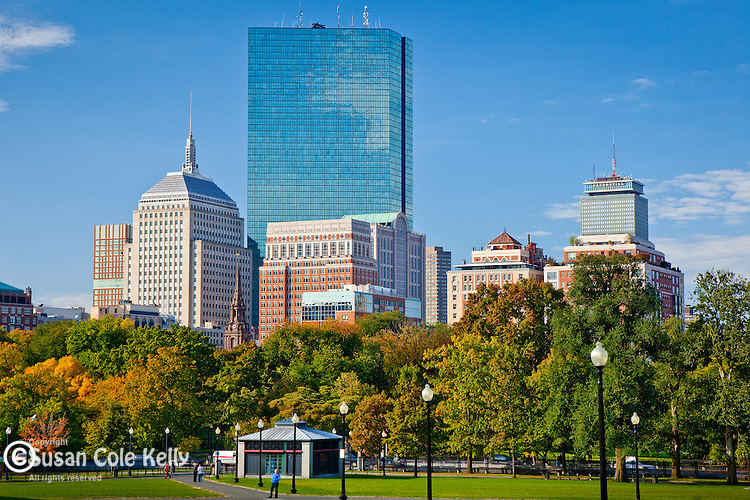 Back Bay skyline in early autumn, Boston, MA