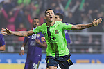 Leonardo Rodriguez Pereira of Jeonbuk Hyundai Motors (KOR) celebrates after scoring his second goal against Al Ain (UAE) during their 2016 AFC Champions League Final 1st Leg match at Jeonju World Cup Stadium on 19 November 2016, in Jeonju, South Korea. Photo by Victor Fraile / Power Sport Images