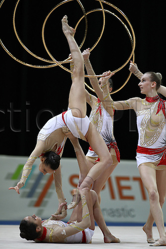 17 04 2010  Italian Group during Rhythmic Gymnastics European Championships 2010 in Bremen 17 04 2010 Team competition