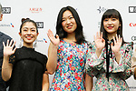 Japanese actress <br /> Ayano Moriguchi, Kokone Sasaki and Aina Yamada <br /> attend a press conference for the 30th Tokyo International Film Festival (TIFF) at Roppongi Hills on September 26, 2017, Tokyo, Japan. <br /> Organisers announced the full lineup of films and special events for the festival. <br /> (Photo by 2017 TIFF/AFLO)