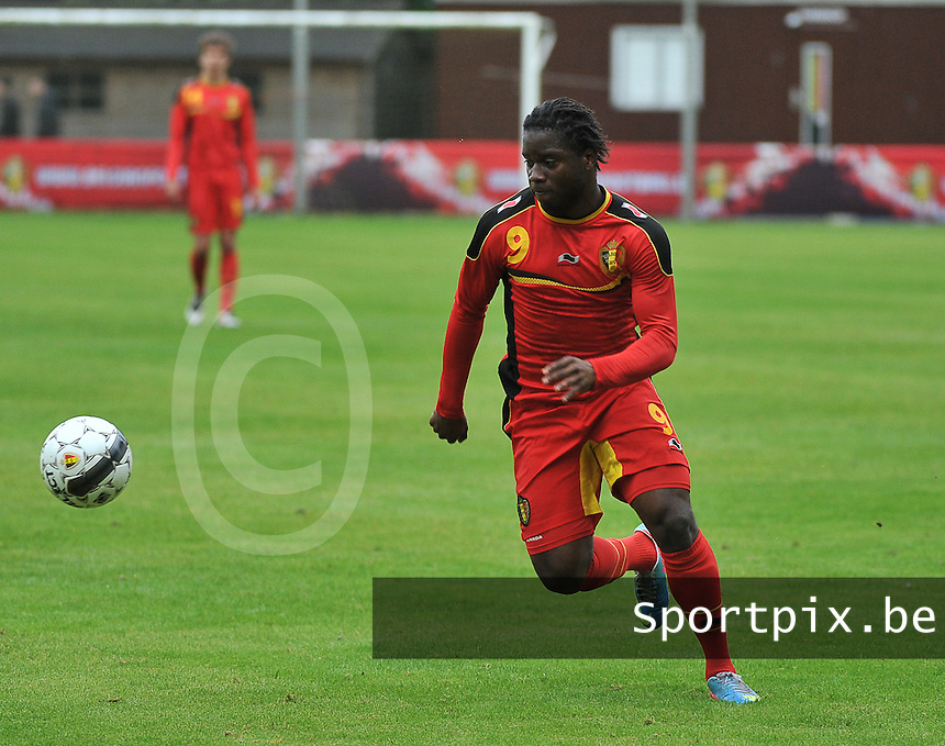 Georgia U19 - Belgium U19 : Nathan Kabasele<br /> foto DAVID CATRY / Nikonpro.be