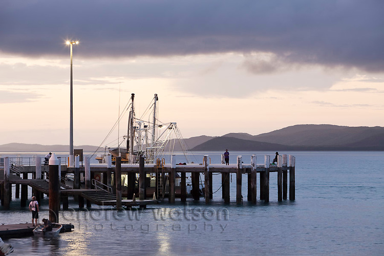 Engineers Wharf with Horn Island in the background.  Thursday Island, Torres Strait Islands, Queensland, Australia