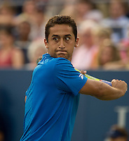 Nicolas Almagro (ESP) (32) against Robby Ginepri (USA) in the second round. Almagro beat Ginepri 6-7 6-2 6-3 4-6 6-4..International Tennis - US Open - Day 3 Wed 02 Sep 2009 - USTA Billie Jean King National Tennis Center - Flushing - New York - USA ..© Frey, Advantage Media Network, Level 1, Barry House, 20-22 Worple Road, London, SW19 4DH +44 208 947 0100..