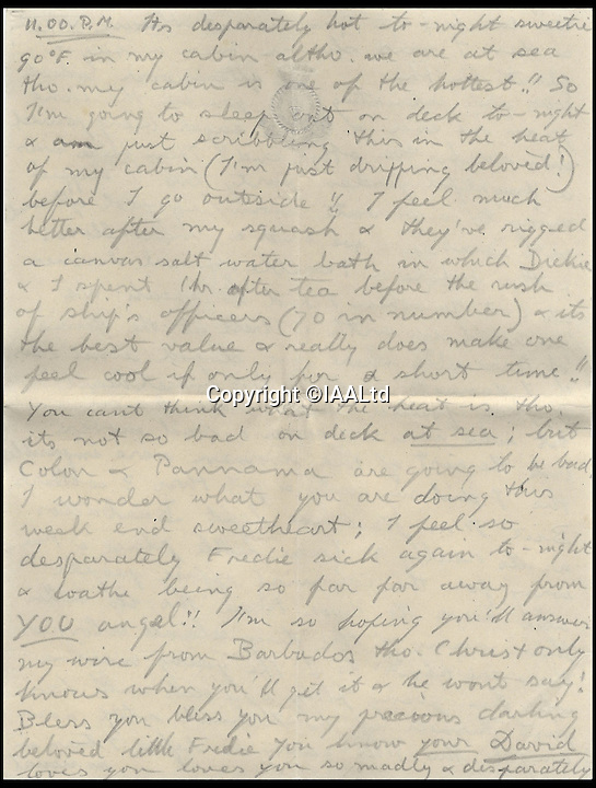 BNPs.co.uk (01202 558833)<br /> Pic: IAALtd/BNPS <br /> <br /> ***Use Full Byline***<br /> <br /> Page twenty of Edward VIII letter. <br /> <br /> A remarkable letter written by controversial monarch Edward VIII that exposes him as an ungrateful, sexist and racist prince has come to light.<br /> The Prince of Wales, who later became the first King to voluntarily abdicate, told of the 'miserable and loathsome' time he was having on a Caribbean cruise.<br /> He visited Barbados in 1920 in what was supposed to be a diplomatic trip of the British Empire but he described the tropical paradise as a 'bum place'.<br /> The Royal reported the local scenery as being 'ugly' and he found the 'coloured population' to be 'revolting'.<br /> The letter is being sold on Saturday in London.