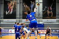 GRONINGEN - Volleybal, Lycurgus - VoCASA, Eredivisie, seizoen 2018-2019, 26-01-2019, sprongservice Lycurgus speler Geoffrey van Gent