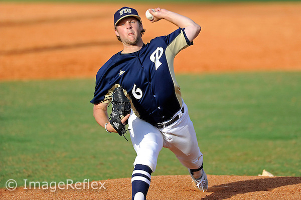 16 February 2013:  FIU left-handed pitcher Ty Sullivan (6) pitches as the FIU Golden Panthers defeated the Stony Brook University Seawolves, 10-4, at University Park Stadium in Miami, Florida.