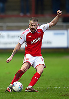 Fleetwood Town's Paddy Madden in action<br /> <br /> Photographer Richard Martin-Roberts/CameraSport<br /> <br /> The EFL Sky Bet League One - Fleetwood Town v Plymouth Argyle - Saturday 10th March 2018 - Highbury Stadium - Fleetwood<br /> <br /> World Copyright &not;&copy; 2018 CameraSport. All rights reserved. 43 Linden Ave. Countesthorpe. Leicester. England. LE8 5PG - Tel: +44 (0) 116 277 4147 - admin@camerasport.com - www.camerasport.com