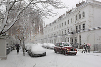 Great Britain, England, London: Snowy street in South Kensington | Grossbritannien, England, London, verschneite Strasse in South Kensington