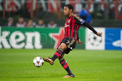 22.10.l2013. Milan, Italy. UEFA Champions League football. AC Milan versus FC Barcelona. Group stages. Robinho (Milan),  at Stadio Giuseppe Meazza in Milan, Italy.