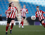 Sam Tierney of Sheffield Utd during the The FA Women's Championship match at the Proact Stadium, Chesterfield. Picture date: 12th January 2020. Picture credit should read: Simon Bellis/Sportimage