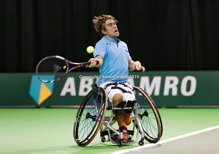 Rotterdam, The Netherlands, 14 Februari 2019, ABNAMRO World Tennis Tournament, Ahoy, Martin De La Puente (ESP),<br /> Photo: www.tennisimages.com/Henk Koster
