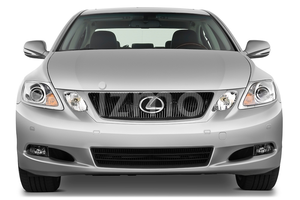 Straight front view of a 2008 Lexus GS 460