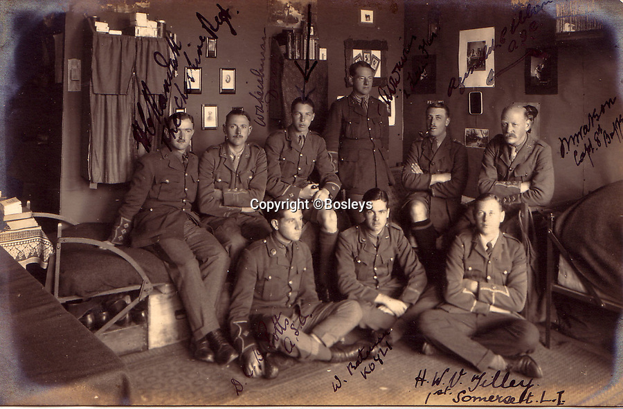 BNPS.co.uk (01202 558833)<br /> Pic: Bosleys/BNPS<br /> <br /> The officers quarters were very comfortable compared to a front line trench...<br /> <br /> The stark contrast between the relative life of luxury enjoyed by captured Tommies of the First World War to the hell of the trenches they left behind can be revealed in a remarkable archive.<br /> <br /> It seems that being taken prisoner was a blessing in disguise judging by the gallery of photos that show the British officers leading a very civilised life at a German PoW camp.<br /> <br /> There was a gentlemen's agreement in place which would see the detainees allowed outside the camp during the day as long as they returned by the evening.<br /> <br /> The archive of Lieutenant Charles Mayo, which includes three of his First World War medals, is being sold by Bosley's auctioneers of Marlow, Bucks on Wednesday.
