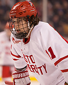 Patrick Curry (BU - 11) - The Harvard University Crimson defeated the Boston University Terriers 6-3 (EN) to win the 2017 Beanpot on Monday, February 13, 2017, at TD Garden in Boston, Massachusetts.