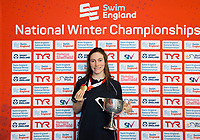 Picture by Allan McKenzie/SWpix.com - 16/12/2017 - Swimming - Swim England Nationals - Swim England Winter Championships - Ponds Forge International Sports Centre, Sheffield, England - Annabel Guye-Johnson with gold from the womens 100m breaststroke.