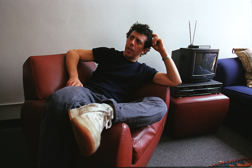 **Fast Chat **.ERIC BOGOSIAN in his Tribeca office space.  His new solo show, WAKE UP AND SMELL THE COFFEE, is at Jane Street Theatre..145 Hudson St., NYC.Newsday/ARI MINTZ.5/4/00