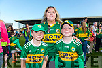 Kerry Fans at the Kerry v Kildare championship clash on Saturday evening at Fitzgerald stadium, from left: Tadhg and Patricia Dalton and Liam O'Flaherty (Ballydonoghue)