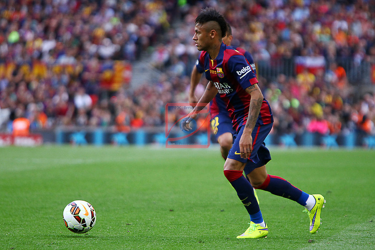 League BBVA 2014/2015. Game: 38.<br /> FC Barcelona vs Deportivo: 2-2.<br /> Neymar.
