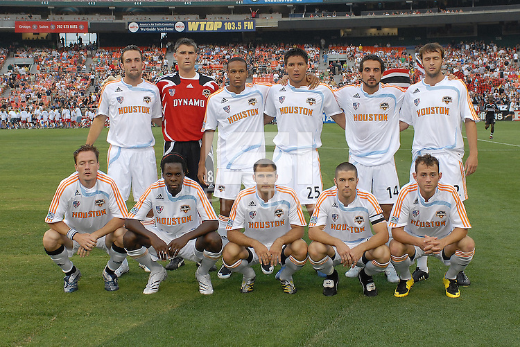 Houston Dynamo starting eleven team. DC United defeated Houston Dynamo, 2-1, at RFK Stadium in Washington DC, Saturday, May 26, 2007.