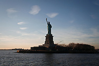 General view of the Statue of Liberty in New York, United States. 9/01/2012. Officials announced the arrival of the record-breaking 50 millionth visitor of the year. Photo by Kena Betancur / VIEWpress.
