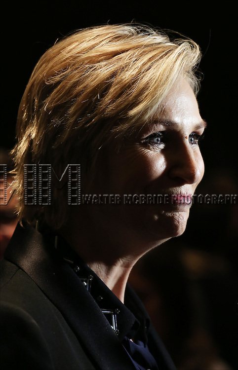 Jane Lynch backstage at 'Uprising Of Love: A Benefit Concert For Global Equality' at the Gershwin Theatre on September 15, 2014 in New York City.