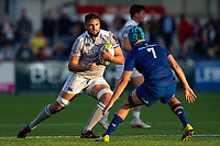 Elliott Stooke of Bath Rugby in possession. Pre-season friendly match, between Leinster Rugby and Bath Rugby on August 25, 2017 at Donnybrook Stadium in Dublin, Republic of Ireland. Photo by: Patrick Khachfe / Onside Images