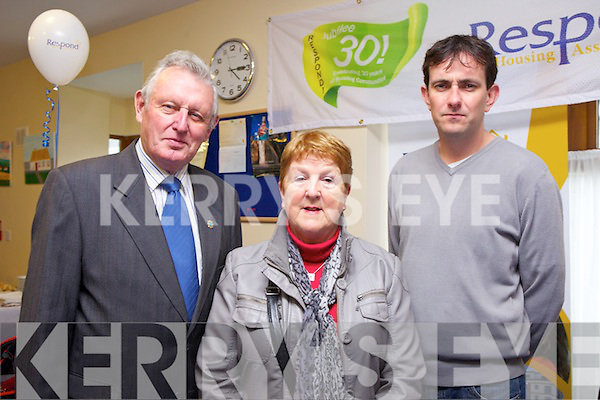 CELEBRATION: Respond! Housing Association celebrated their Jubilee 30 Anniversary in Baile O'Dubhda, Listowel on Thursday: Cllr. Tim O'Leary, Mary Hanlon and Cllr. Jimmy Maloney.