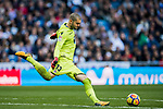 Goalkeeper Ruben Ivan Martinez Andrade of RC Deportivo La Coruna in action during the La Liga 2017-18 match between Real Madrid and RC Deportivo La Coruna at Santiago Bernabeu Stadium on January 21 2018 in Madrid, Spain. Photo by Diego Gonzalez / Power Sport Images