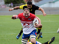 William Lander opens the scoring during the preseason provincial rugby match between Horowhenua Kapiti and Wellington at Levin Domain in Levin, New Zealand on Monday, 4 May 2018. Photo: Dave Lintott / lintottphoto.co.nz